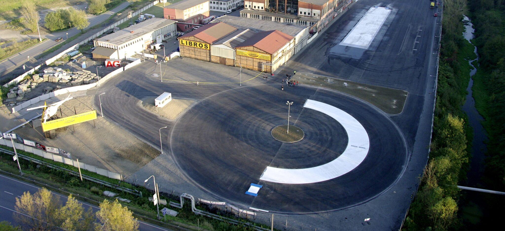 Areál střediska bezpečné jízdy v Ostravě - Libros