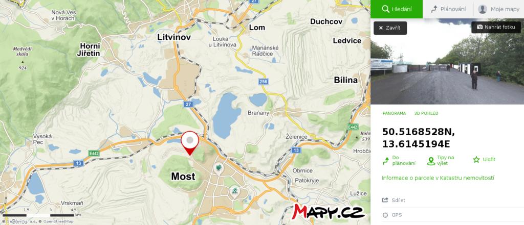 Mapa školy smyku Most